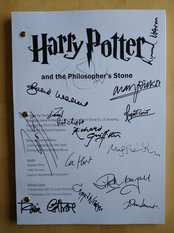 Harry Potter  Film Script with Reprinted Autographs