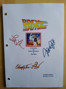 Back to the Future  Film Script with Reprinted Autographs