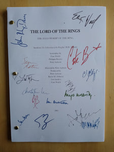 The Lord of the Rings  Film Script with Reprinted Autograph