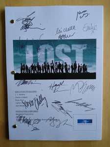 Lost Tv Series  Film Script with Reprinted Autograph