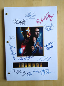 Ironman  Film Script with Reprinted Autograph