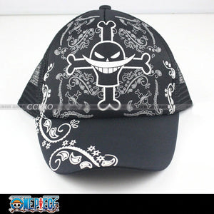 One Piece White Beard Anime Breathable Mesh Cap