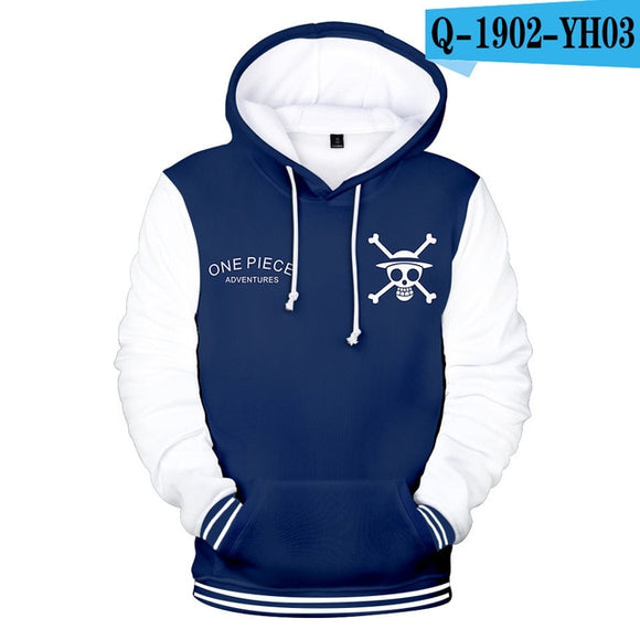 One Piece  Blue Hoodie