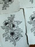 5x7 'Anemone Bunch' Block Print