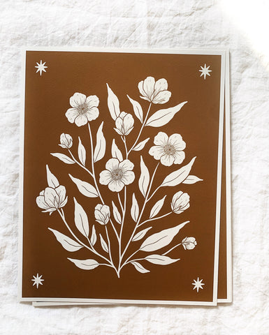 "11x14"" White Floral Giclee Print"