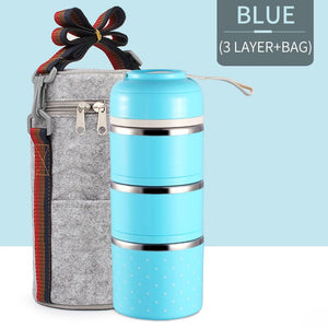 Pranzo™️-Insulated Thermal Lunchbox - BLUE