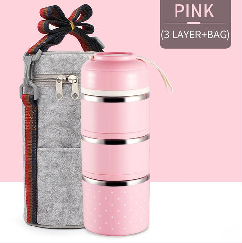 Pranzo™️-Insulated Thermal Lunchbox - PINK