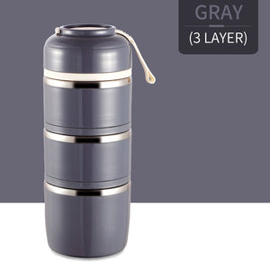 Pranzo™️-Insulated Thermal Lunchbox - GRAY