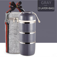 Load image into Gallery viewer, Pranzo™️-Insulated Thermal Lunchbox - GRAY