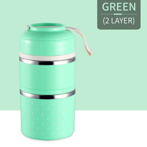 Pranzo™️-Insulated Thermal Lunchbox - GREEN