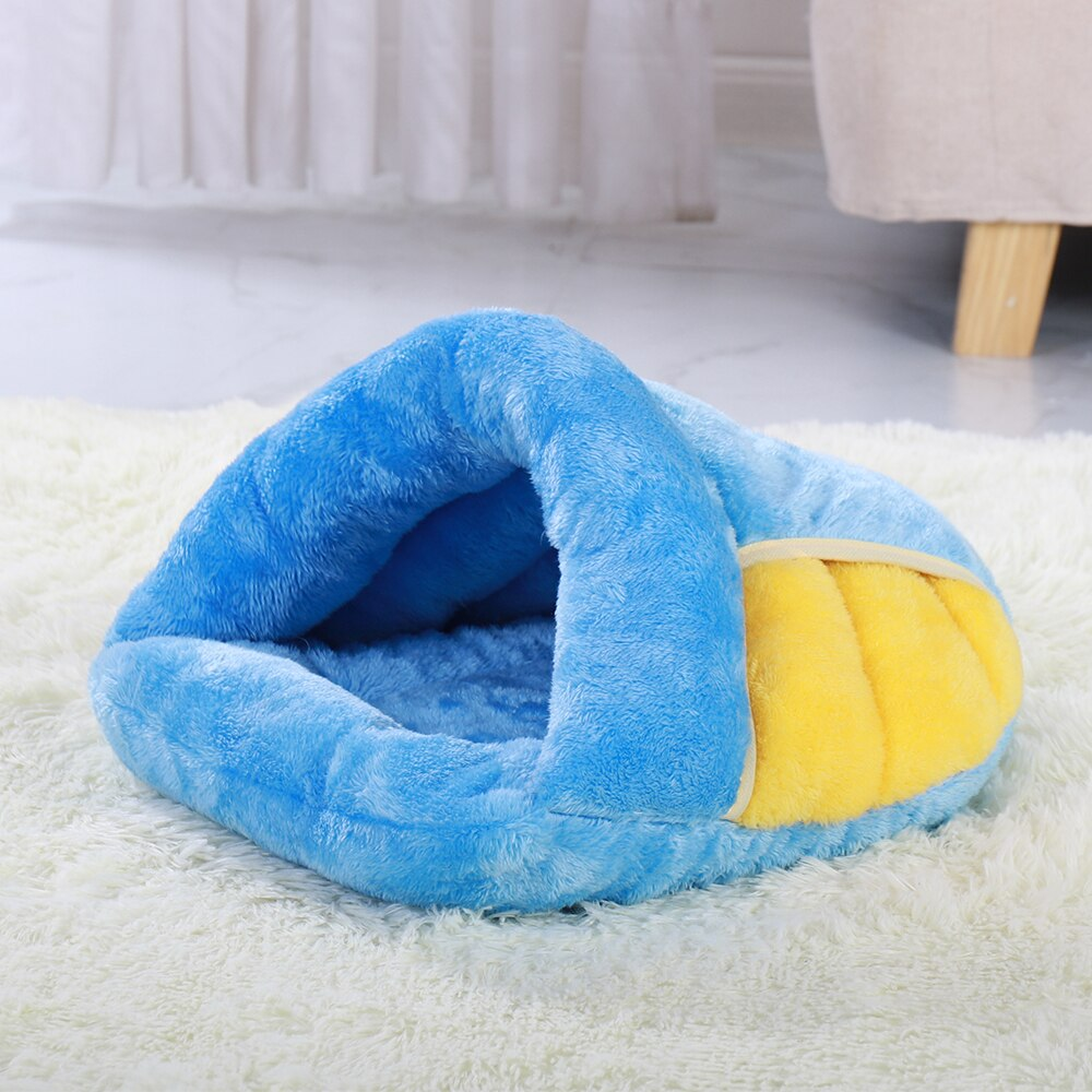 Soft Dog Cat Bed Warm Pet Bed Cave