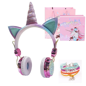 Cute Kid Unicorn Headphone