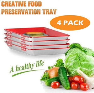 Creative Food Preservation Tray 4pcs