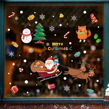 Load image into Gallery viewer, Large Size Christmas Wall Stickers Santa Claus
