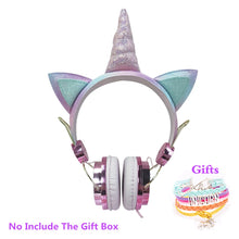 Load image into Gallery viewer, Cute Kid Unicorn Headphone