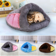 Load image into Gallery viewer, Soft Dog Cat Bed Warm Pet Bed Cave
