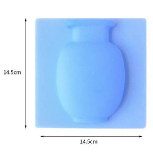 3 Piece Silicone Wall Vase for Flowers