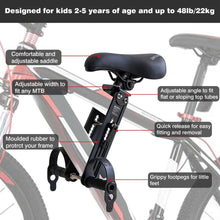 Load image into Gallery viewer, Shotgun Front Mounted Child Bike Seat