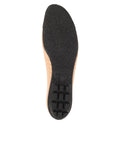 Womens Beige/Black Crush Quilted Leather Ballet Flat 7