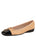 Womens Beige/Black Galant Square Toe Ballet