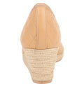Womens Beige/Black Just Quilted Wedge Espadrille 2