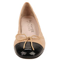 Womens Beige/Black Titou Kitten Heel 4