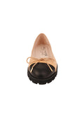 Womens Black/Beige Bravo Lug Sole Ballet 5