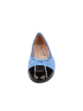 Womens Black/Blue Best Quilted Leather Ballet Flat 4