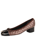 Womens Black/Brown Titou Block Heel