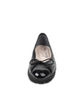 Womens Black Patent/Black Leather Best Lug Sole Ballet 4