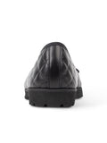 Womens Black Patent/Black Leather Best Lug Sole Ballet 6