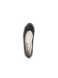 Womens Black Patent/Black Leather Best Lug Sole Ballet 7