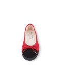 Womens Black/Red Suede Bravo Lug Sole Ballet 4