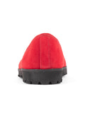 Womens Black/Red Suede Bravo Lug Sole Ballet 6