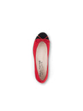 Womens Black/Red Suede Bravo Lug Sole Ballet 7