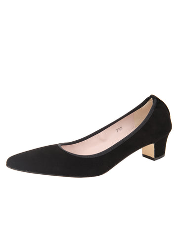 Womens Black Suede Rlv Pump