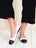 Womens Black/White Galant Square Toe Ballet 4 Alternate View