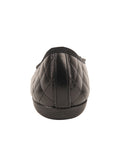 Womens Black Best Quilted Leather Ballet Flat 2