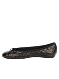 Womens Black Best Quilted Leather Ballet Flat 6