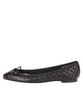 Womens Black Lido Quilted Leather Ballet Flat 6