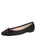Womens Black Luxe Textured Ballet Flat