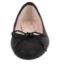 Womens Black Luxe Textured Ballet Flat 4