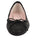 Womens Black Luxe Textured Ballet Flat 4 Alternate View