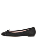 Womens Black Luxe Textured Ballet Flat 6