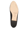 Womens Black Luxe Textured Ballet Flat 7