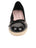 Womens Black Just Quilted Wedge Espadrille 4 Alternate View