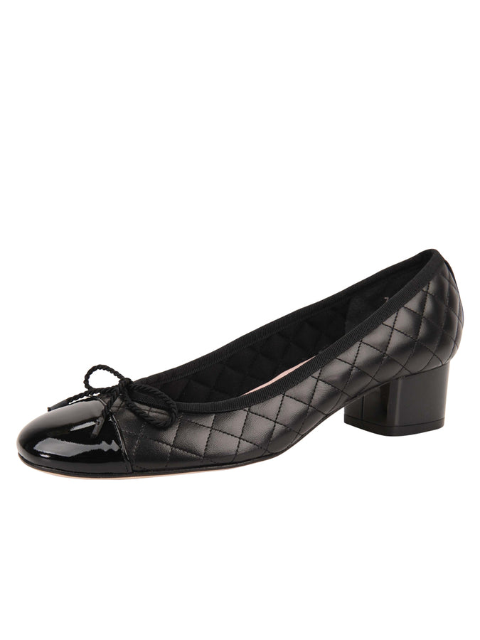Womens Black Titou Block Heel