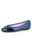 Womens Blue/Black Brave Leather Ballet Flat