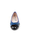 Womens Blue/Black Brave Leather Ballet Flat 6