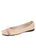 Womens Blush Leather Burg Leather Ballet Flat